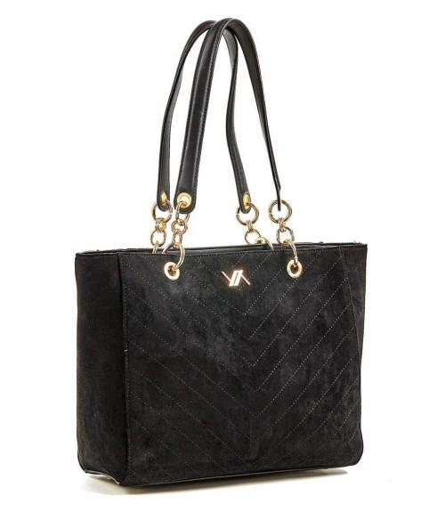 Τσάντα Verde Black Suede