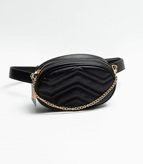 Belt Bag  Black Capitone