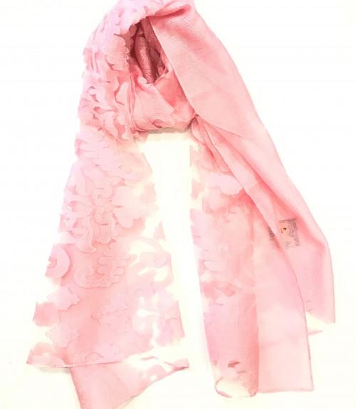 Φουλάρι οργάντζα ροζ