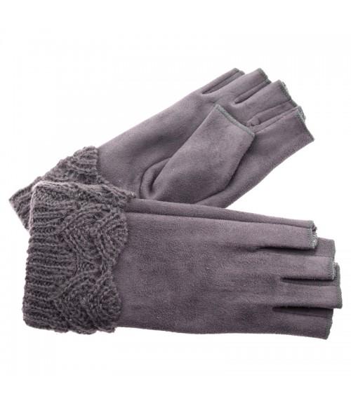 Γάντια Verde με Κομμένα Δάχτυλα Τύπου Σουέτ