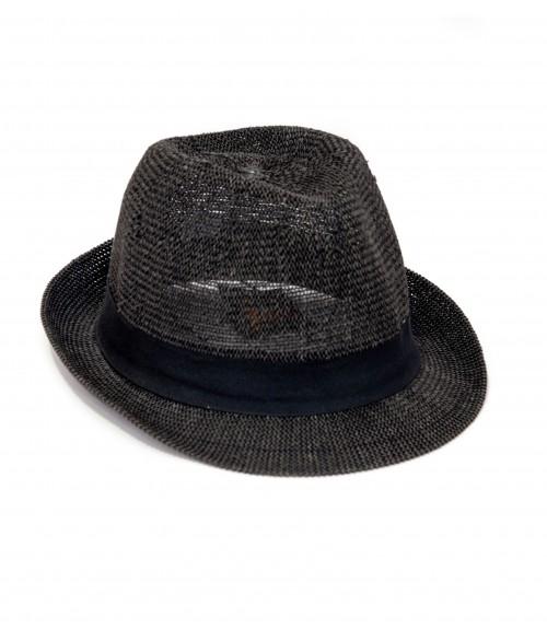 Καπέλο Ψάθινο Καβουράκι με Κορδέλα Μαύρη