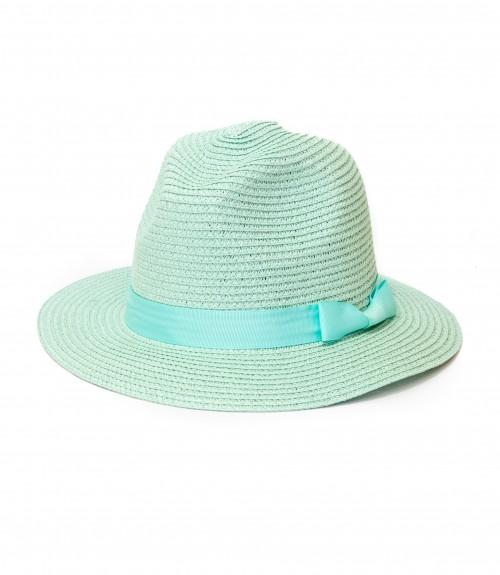Καπέλο Ψάθινο Καβουράκι με Κορδέλα