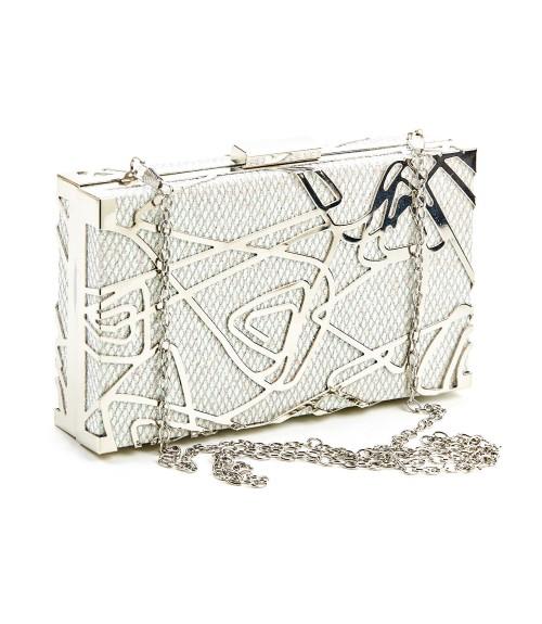 Clutch Box Silver Ivory