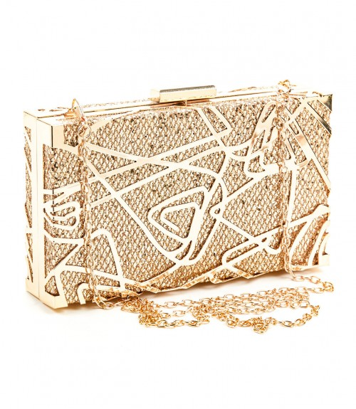 Clutch Verde Box Gold