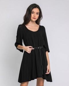 Φόρεμα με Ιδιαίτερη Πλάτη και Καμπάνα Τρουακάρ Μανίκι