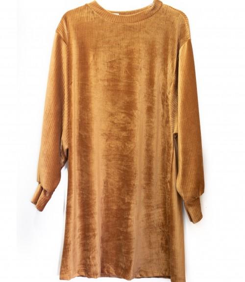 Φόρεμα με Φαρδιά Μανίκια Σενίλ