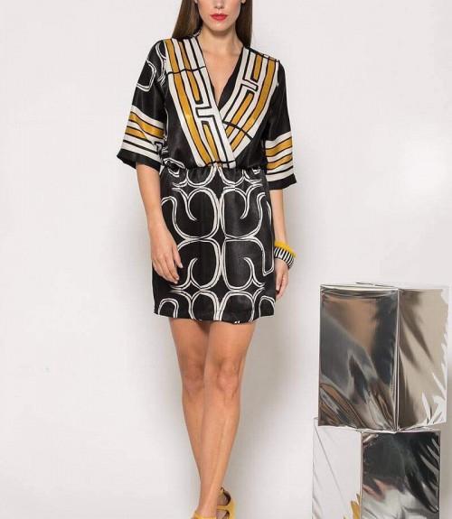 Φόρεμα Κοντό Κρουαζέ Σατέν