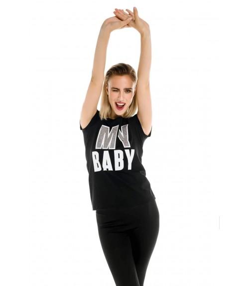 Μπλούζα με Τύπωμα My Baby σε Ίσια Γραμμή