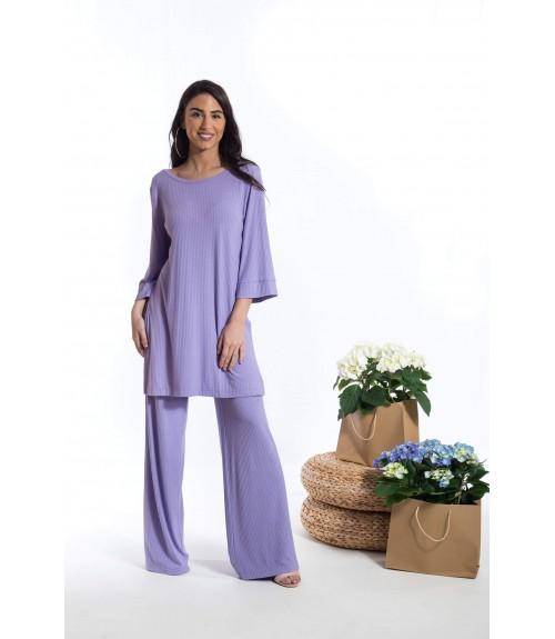Μπλουζοφόρεμα με Ανοίγματα στο Πλάι και Καμπάνα Τρουακάρ Μανίκι