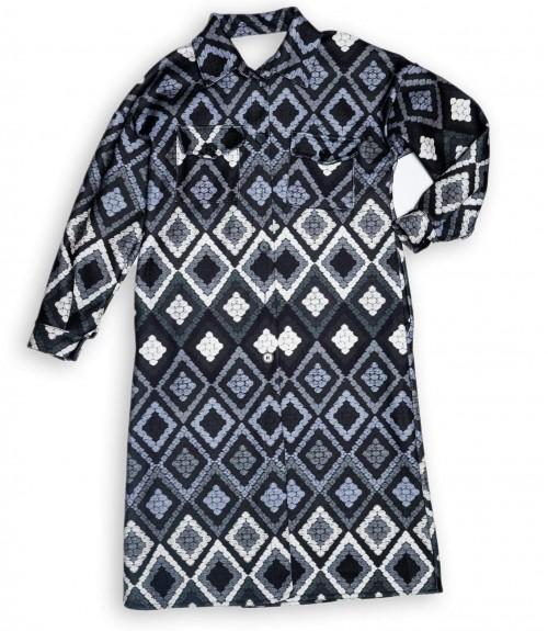 Παλτό σε Ίσια γραμμή με Γεωμετρικά Σχέδια