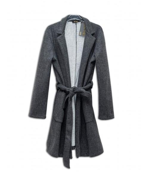 Παλτό Μονόχρωμο με Ζώνη και Τσέπες
