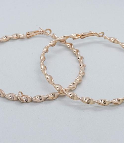 Σκουλαρίκια Κρίκοι Spiral Design