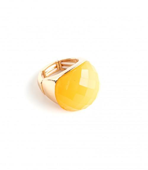 Δαχτυλίδι Ανοιγόμενο με Πέτρα Oval Yellow