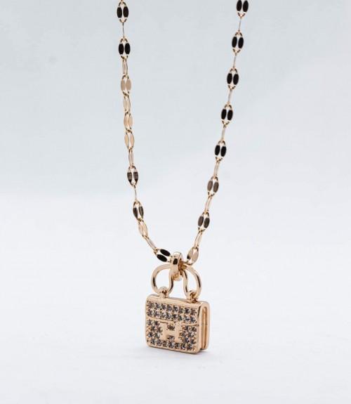 Κολιέ Ατσάλι Κοντό Mini Bag