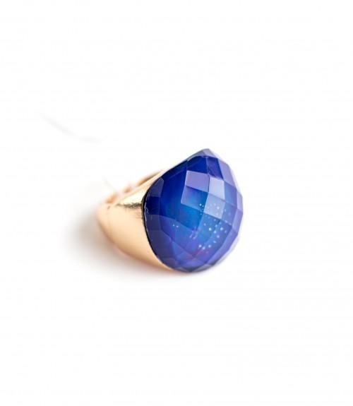 Δαχτυλίδι Ανοιγόμενο με Πέτρα Oval Blue