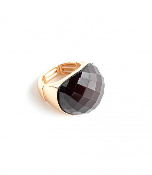 Δαχτυλίδι Ανοιγόμενο με Πέτρα Oval Black