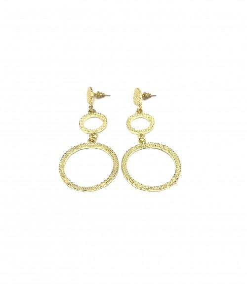 Σκουλαρίκια  κύκλοι χρυσό