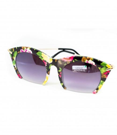 Γυαλιά με Κοκάλινο Σκελετό Floral