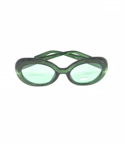 Γυαλιά με πράσινο σκελετό και πράσινο ανοικτό φακό