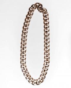 Κολιέ Μακρύ Flat Chain Rosegold