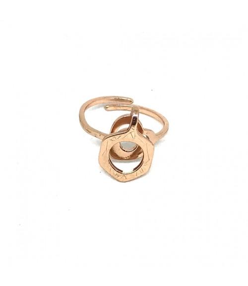 Δαχτυλίδι μεταλλικό 3D ανοιγόμενο rose gold