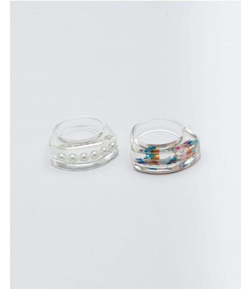 Δαχτυλίδι Plexiglas White