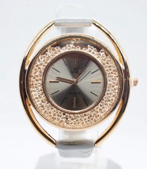 Ρολόι με Λουστρίνι Λουράκι Κάσα Χρυσή με Στράς